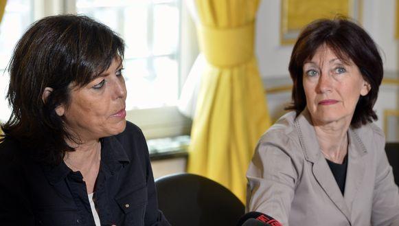 Vicepremiers Joëlle Milquet (cdH) en Laurette Onkelinx (PS).