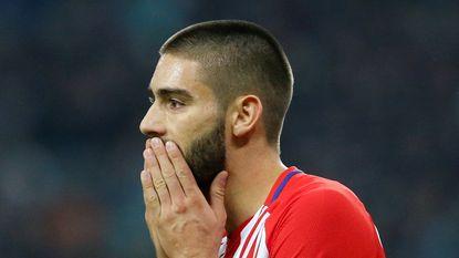 Nipte zege voor Atletico, Carrasco 'om disciplinaire redenen' niet in selectie
