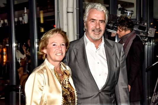 Pieter Storms met zijn vrouw Nina Brink bij JFK Greatest Man Award 2016