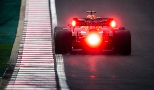 Max Verstappen op de Hungaroring.