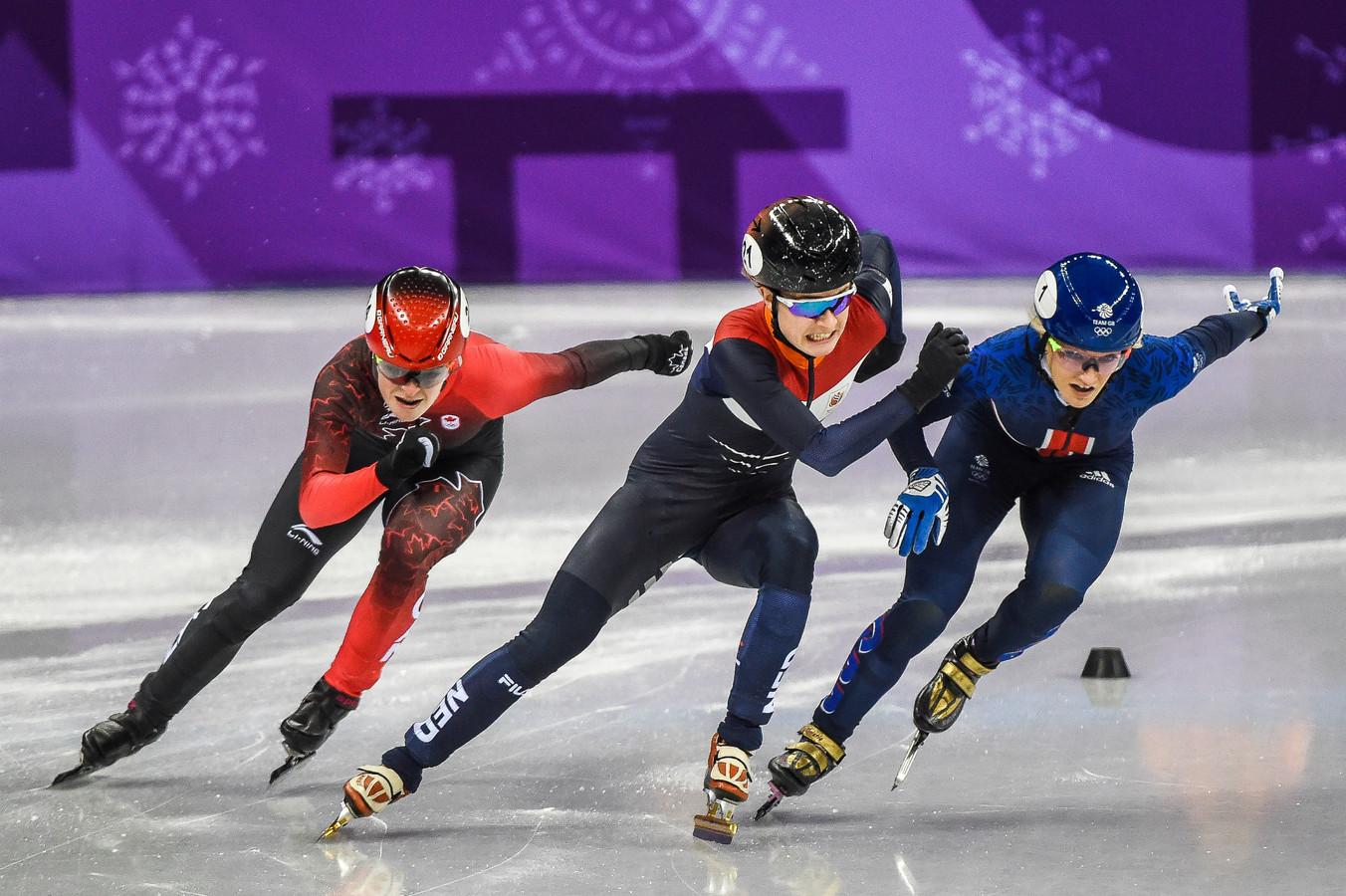 Yara van kerkhof bij de Spelen in Pyeongchang.