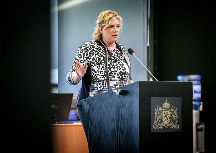 Ankie de Hoon (CDA) tijdens een Statendebat over de landbouw.