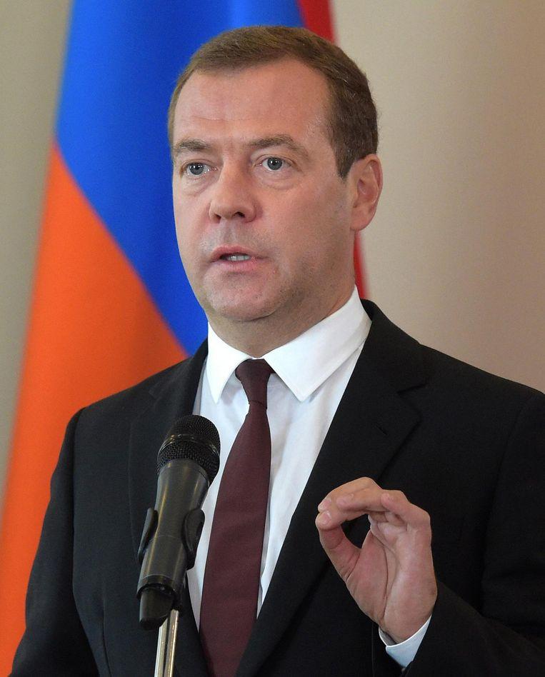 De Russische premier Medvedev wordt verantwoordelijk gehouden voor de economische recessie in Rusland. Beeld anp