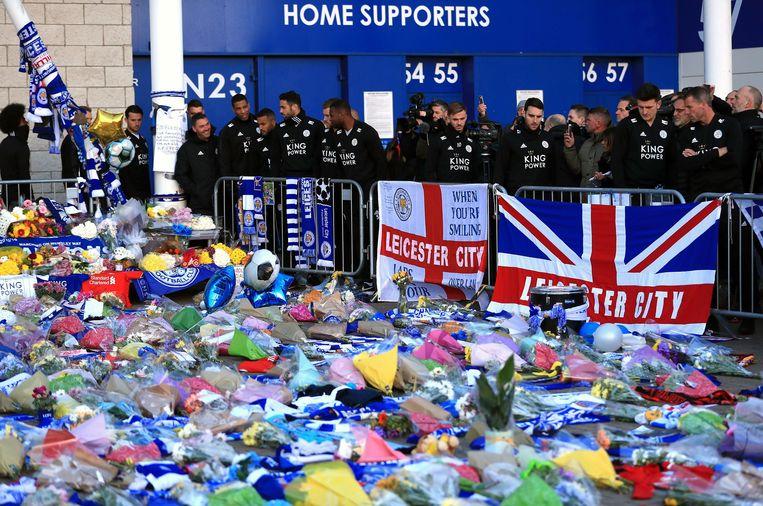 Ook bij Leicester City werd er al afscheid genomen van Vichai Srivaddhanaprabha.
