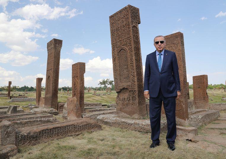 President Erdogan voelde zich beledigd door Burhan Borak.  Beeld AP