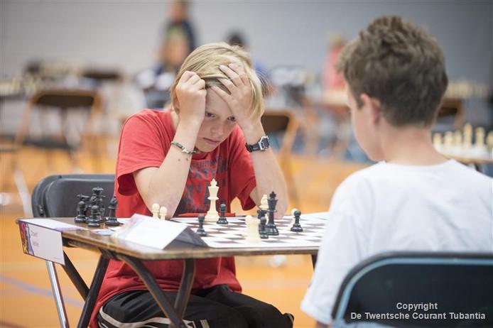 Ook vorig jaar streden jonge schakers om de titel Nederlands Kampioen in de Bornse sporthal.