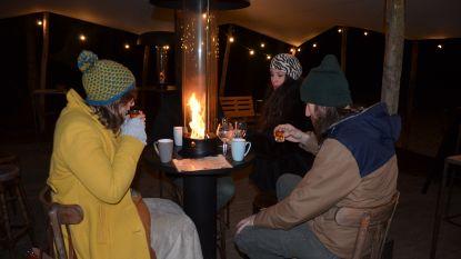 Feestarchitect tovert chalet om tot pop-up winterbar 'GezoardeBos'