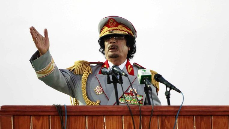 Muammar Kaddafi. Beeld reuters
