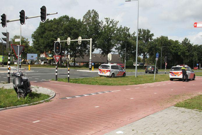 Ongeval op de kruising Grotestraat-Rondweg in Borne onlangs. Geen gewonden, wel blikschade.