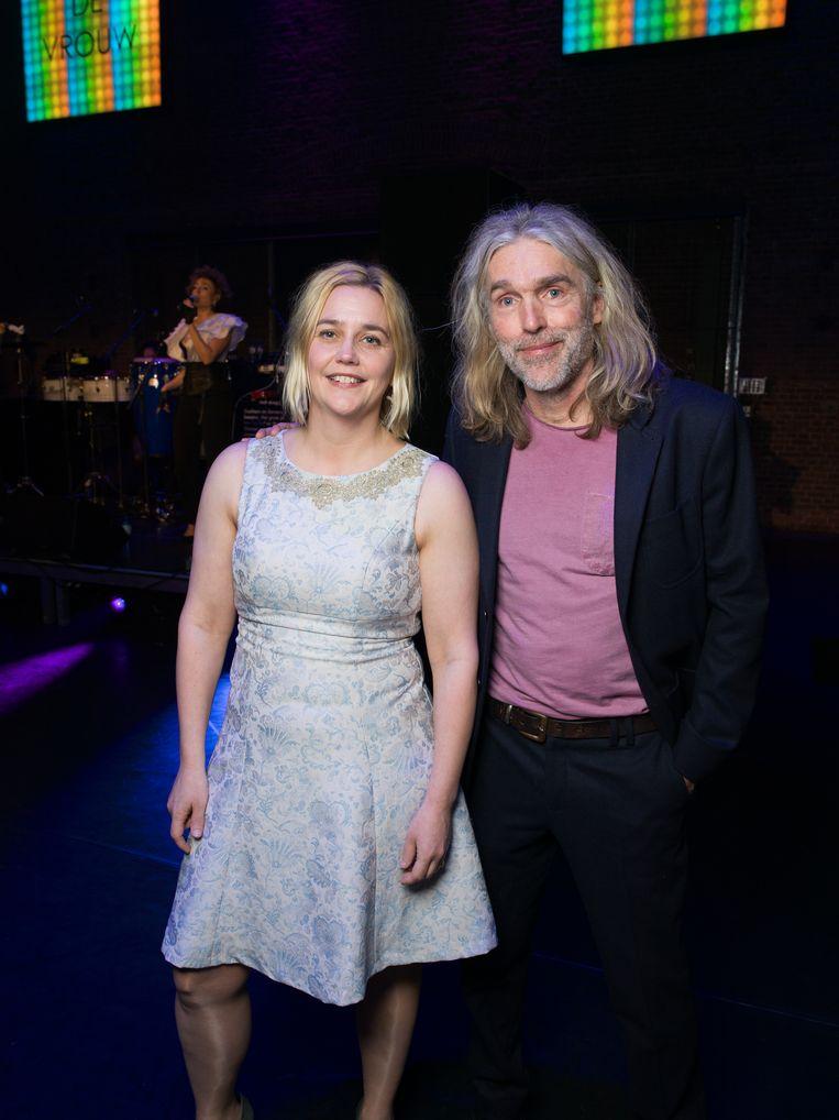 Stine Jensen met haar man Beeld Ivo van der Bent