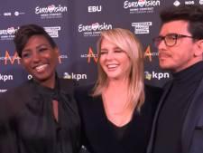 Chantal 'vanwege lang haar' steeds in midden Eurovisie-trio