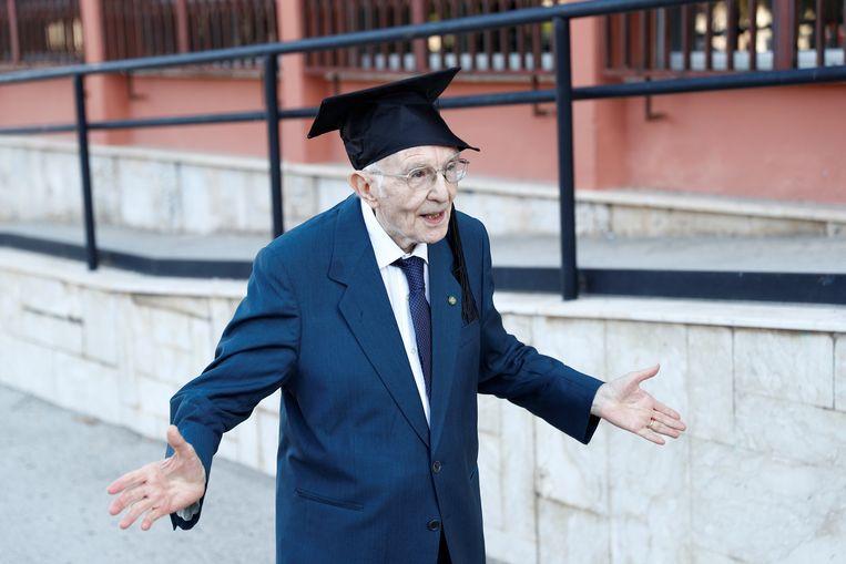 Giuseppe Paterno (96) heeft alle reden om te vieren na zijn knalprestatie.