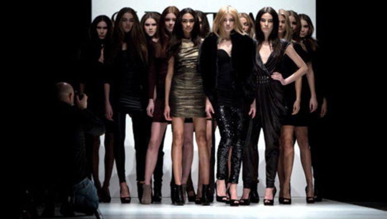 Modemerk Supertrash showde vrijdag de collectie The Revival of Cleopatra op de Amsterdam International Fashion Week die tot en met 31 januari plaatsvond in de Westergasfabriek in Amsterdam. Foto ANP Beeld