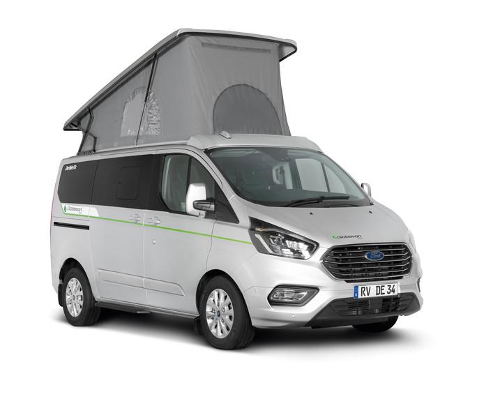 De Dethleffs Globevan is een plug-in hybride.