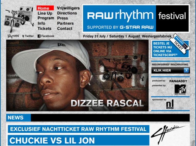 Op vrijdag staan artiesten als Dizzee Rascal, Mr. Wix, Lamb en Vage Gasten op de planken. Foto www.rawrhythmfestival.com Beeld