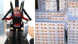 Verkoop van 3.000 dozen wafels helpt Runar (3) stappen met robot