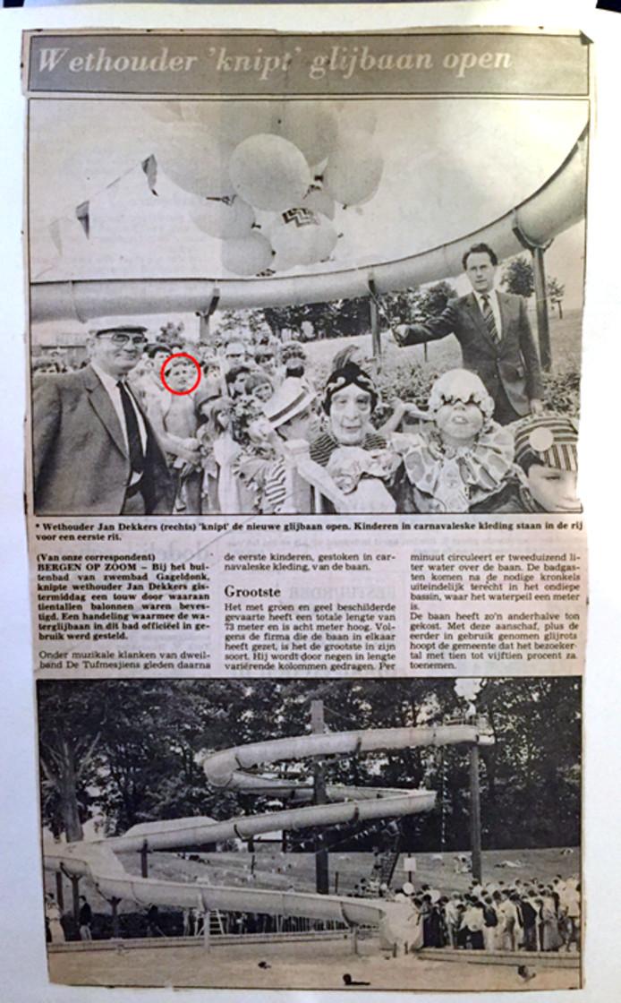 Rob Langeweg stuurde het originele krantenartikel