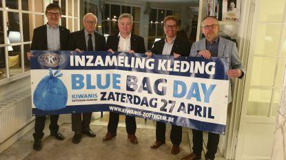 Blue Bag Day Kiwanis Zottegem: inzameling kleding ten voordele van onderzoek kinderurologie