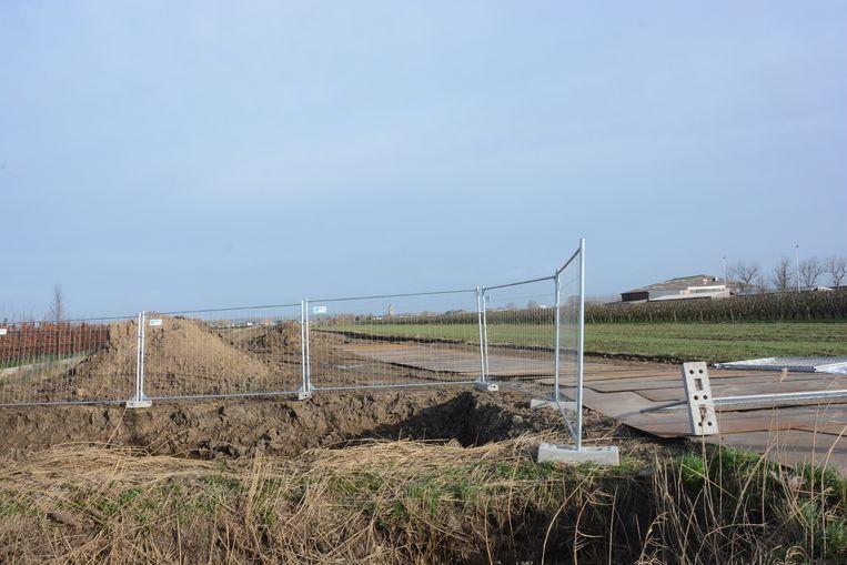 De grondwerken werden vorige week opgestart maar zijn intussen stilgelegd.