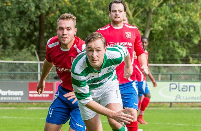 Doelpuntenmaker Daley Hoogakker van Eendracht'30 eerder dit seizoen tegen DIO'30.