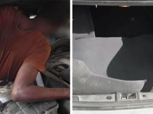 Cachés dans le moteur d'une voiture et à l'intérieur des sièges pour rejoindre l'Europe