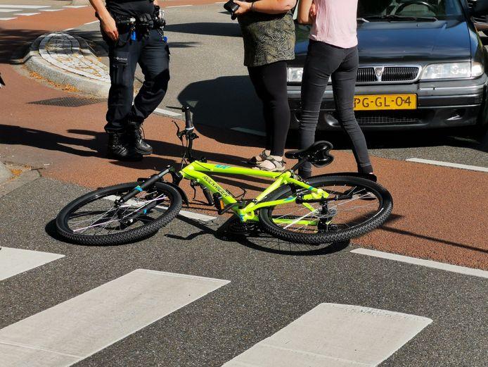 De aangereden fiets.
