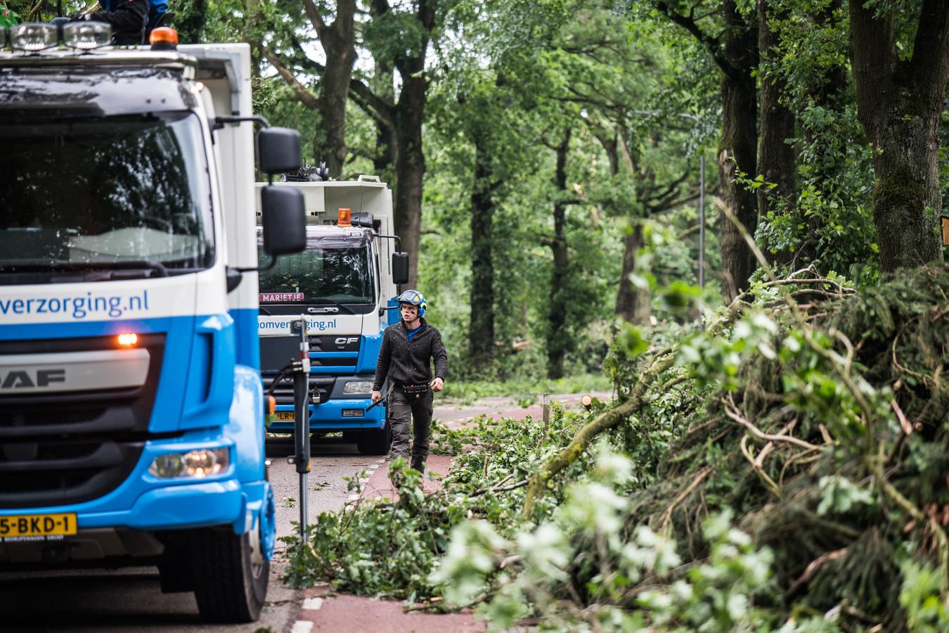 In de afgelopen twee dagen is hard gewerkt om alle schade op te ruimen, aldus de gemeente Rheden.