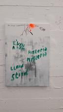 Het olieverf op doek 'Zonder titel' uit 2007, het jaar waarin Daniëls weer begon te schilderen na zijn beroerte in 1987.