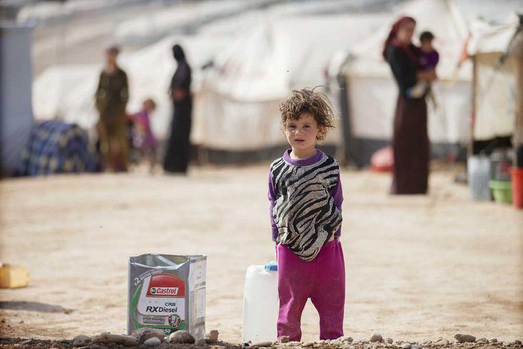 Het door yezidi's bewoonde Khanke vluchtelingenkamp in Noord-Irak. Beeld anp