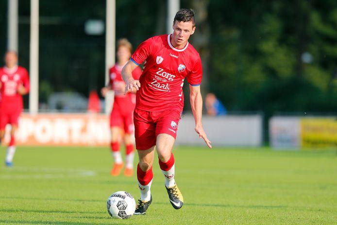 Nick Venema zorgde vanavond voor de enige treffer van Jong FC Utrecht.