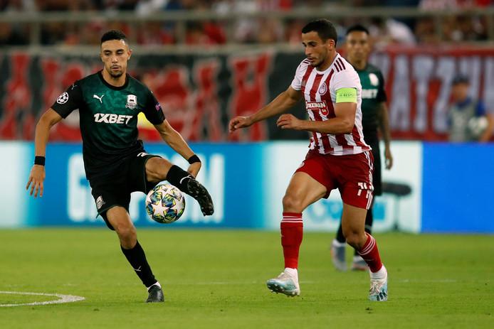 Younes Namli zag zijn Champions League-droom in de eerste play-off-wedstrijd al nagenoeg uiteen spatten. Krasnodar verloor met 4-0 van Olympiakos.