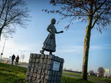 Fietsende Rozemarijne stond model voor beeld 'Kruuzemuntje' in Driel