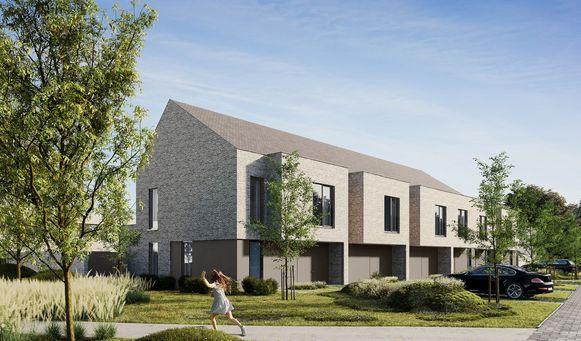 Een toekomstbeeld van de nieuwe woningen in Park Puur.