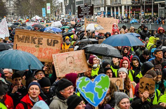 Klimaatmars in Brussel.