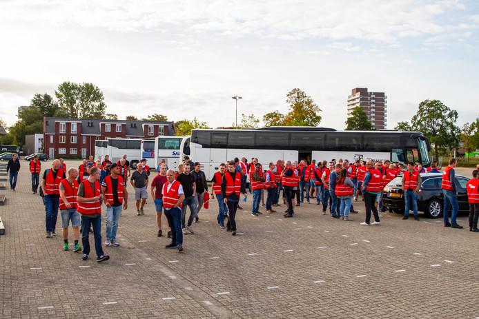 Een staking van metaalarbeiders in Zwolle