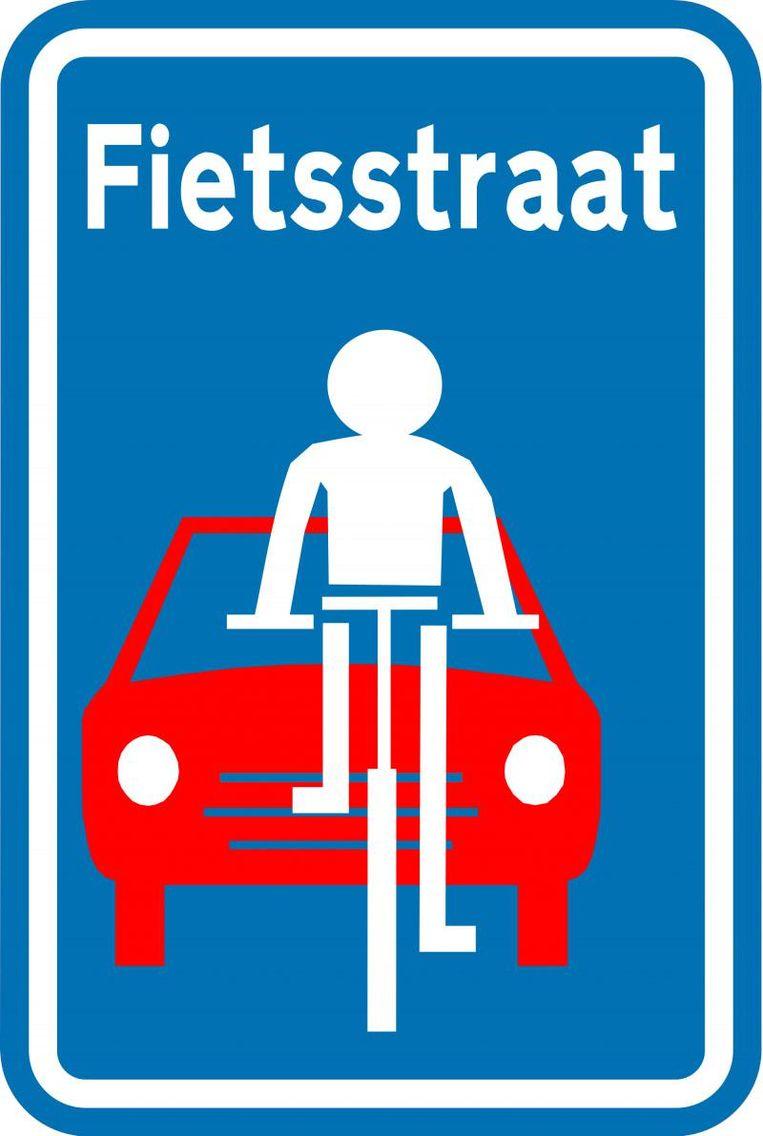 Dit bord duidt aan dat de Paulatemstraat een fietsstraat is.