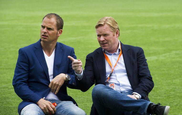 Frank de Boer en Ronald Koeman. Beeld anp