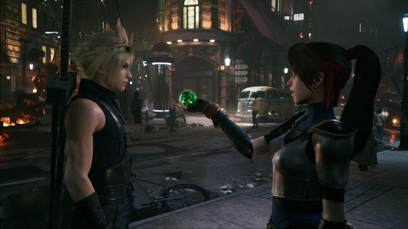 Screenshot uit de trailer van 'Final Fantasy VII Remake'.
