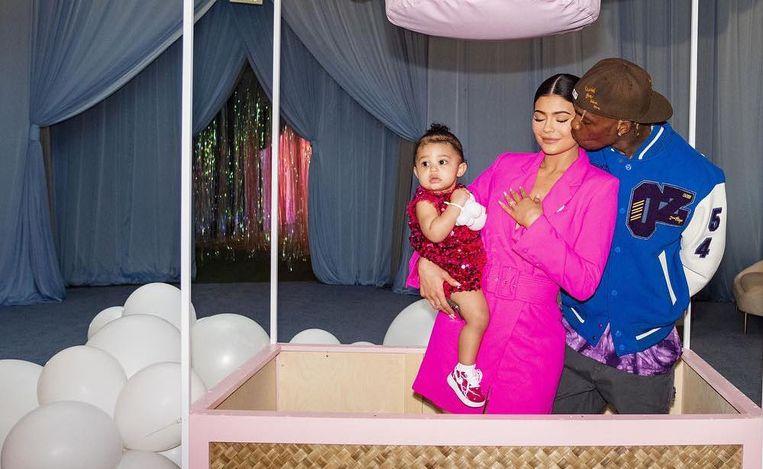 Baby Stormi met haar ouders, Kylie Jenner en Travis Scott