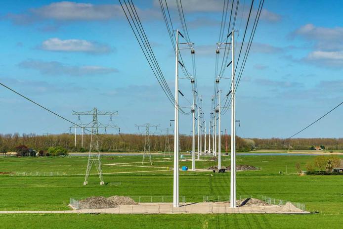 380 kV-hoogspanningsmasten (foto ter illustratie)
