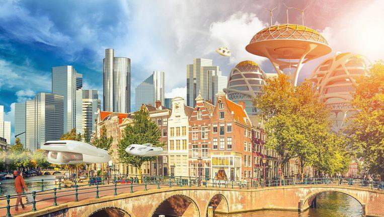 Amsterdam gaat door volgens prognoses in 2034 door de grens van 1 miljoen inwoners. Beeld Sjoerd Stellingerwerf