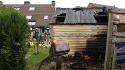 Tuinhuis in Gildestraat brandt volledig uit