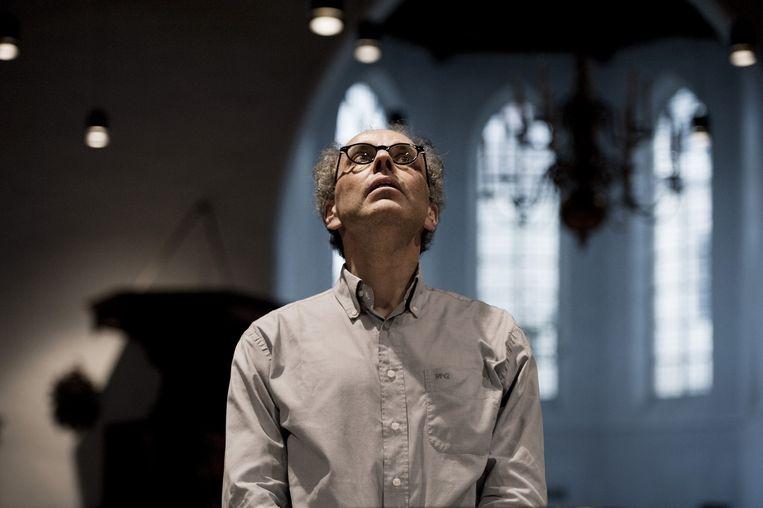 Ed Spanjaard tijdens een repetitie in Utrecht. Beeld An-Sofie Kesteleyn
