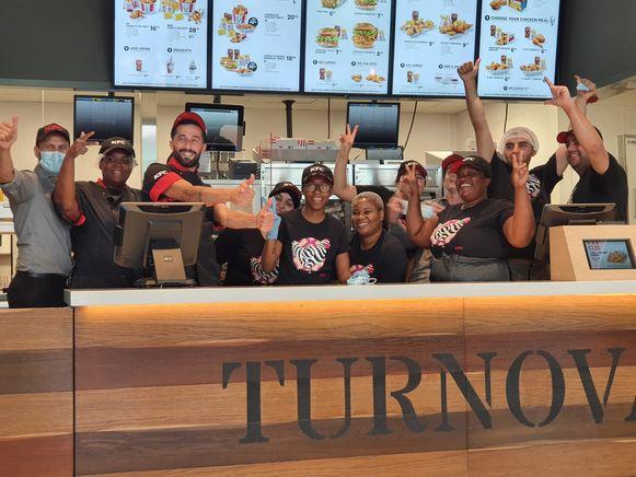 Medewerkers van KFC in Turnhout.