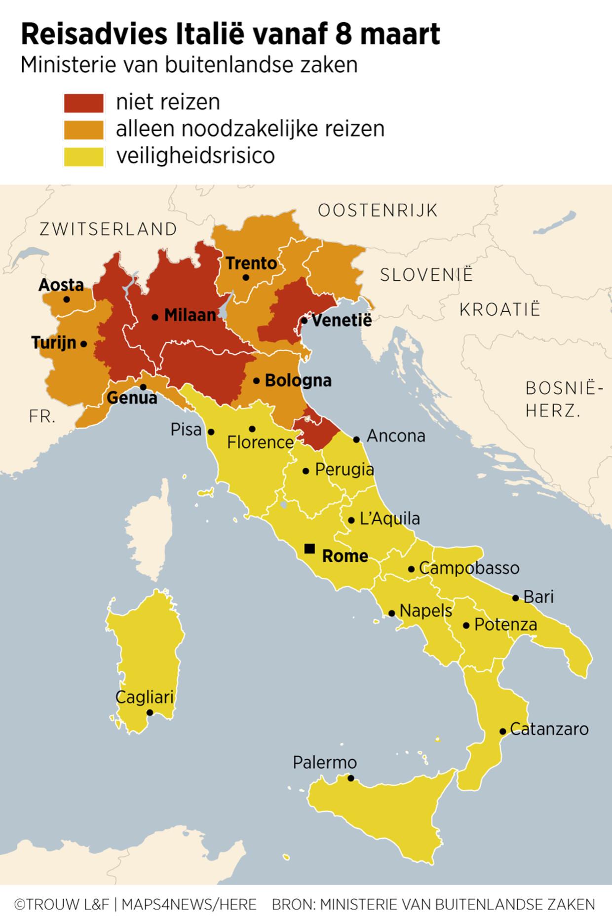 Noord Italie Gaat Op Slot Reisverbod Voor 16 Miljoen Italianen Trouw