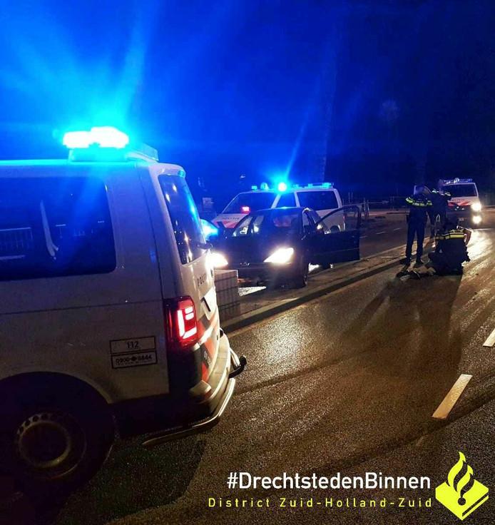 De politie wist de man uiteindelijk aan te houden op de Vrieseweg in Dordrecht.