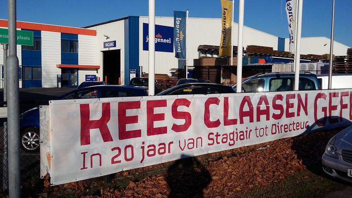 Spandoek voor jubilerende directeur ALE Breda, Kees Claasen