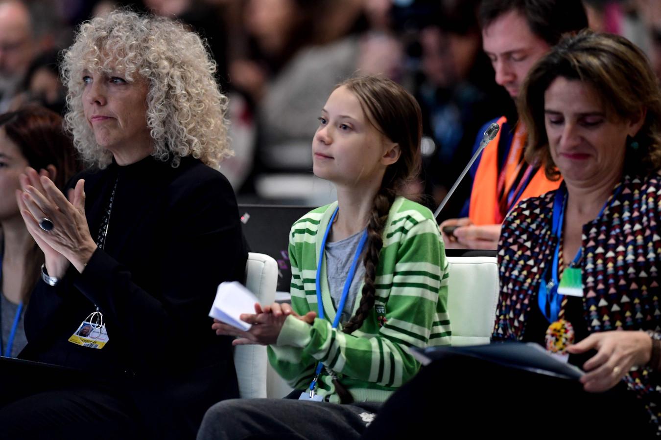 Jennifer Morgan (Greenpeace) et Greta Thunberg