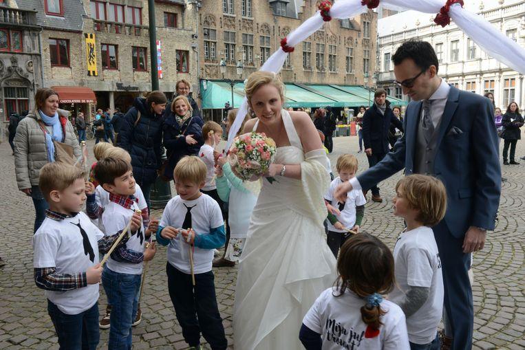 Huwen is nog altijd populair in Brugge.