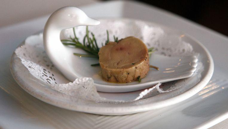 Een bordje foie gras.